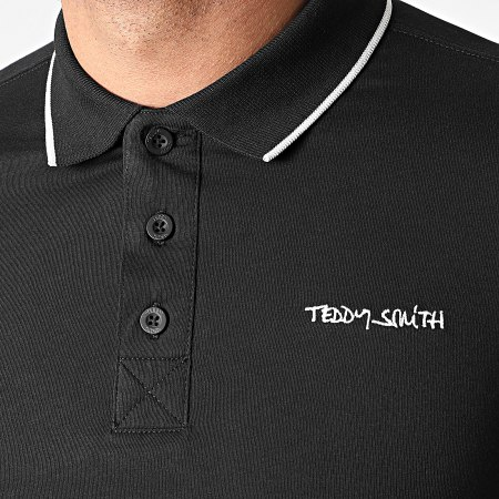 Teddy Smith - Polo Manches Courtes Pasian Noir