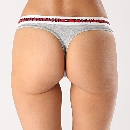 Tommy Hilfiger - String Femme Thong 2458 Gris Chiné