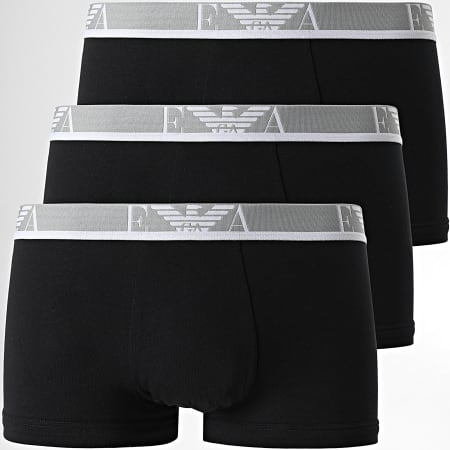 Emporio Armani - Lot De 3 Boxers 111357-1P717 Noir Gris