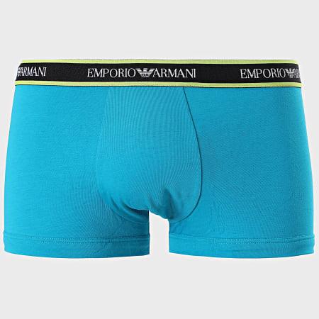 Emporio Armani - Lot De 3 Boxers 111357-1P717 Noir Bleu Jaune Fluo