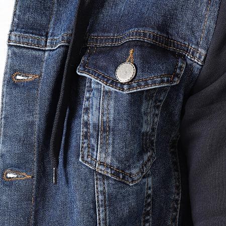 2Y Premium - Veste Jean Capuche 1947-1 Bleu Denim Bleu Marine
