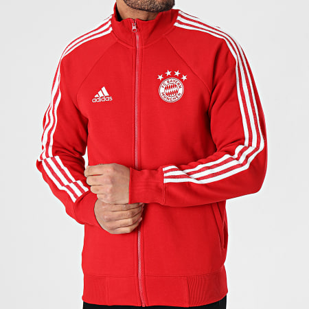 adidas - Veste Zippée A Bandes FC Bayern Icons FR3979 Rouge