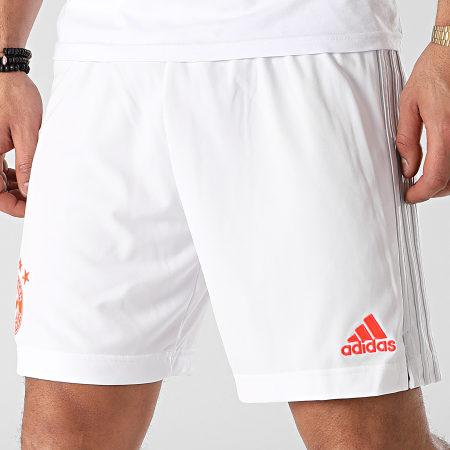 adidas - Short De Sport A Bandes FC Bayern FN1952 Blanc