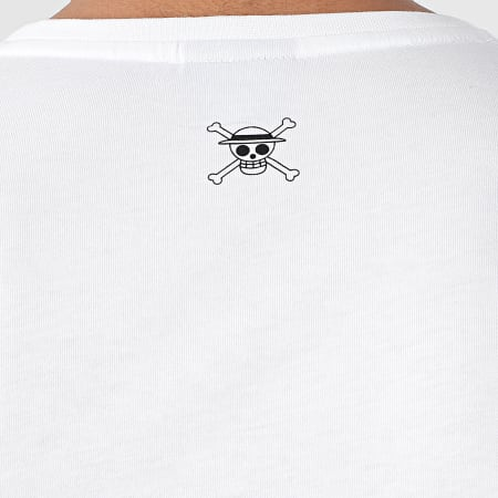One Piece - Tee Shirt Manches Longues Selfie Luffy Front Blanc