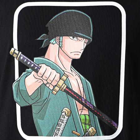 One Piece - Tee Shirt Selfie Zoro Front Noir