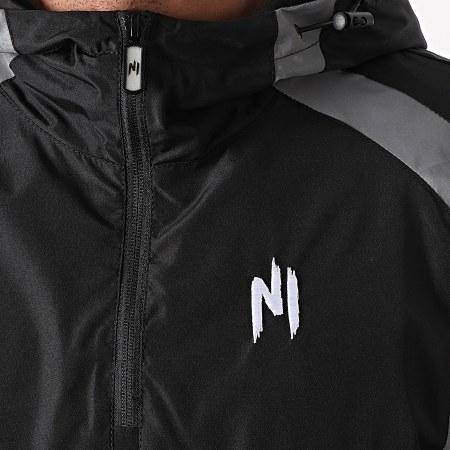 NI by Ninho - Ensemble De Survêtement Réfléchissant Paname Noir Gris