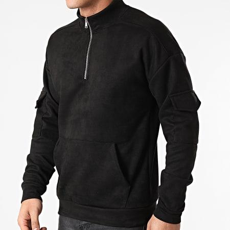 Frilivin - Sweat Col Zippé 15107 Noir