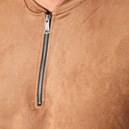 Frilivin - Sweat Col Zippé 15128 Camel