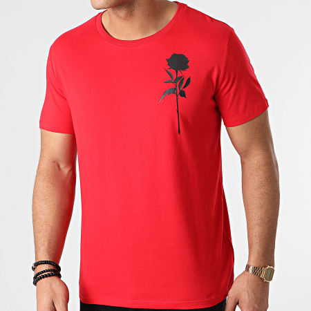 Roses - Tee Shirt Chest Rouge