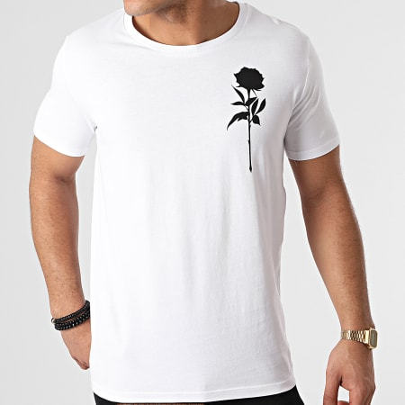 Roses - Tee Shirt Chest Blanc