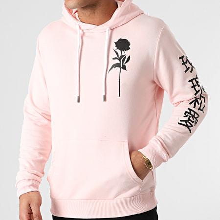Roses - Sweat Capuche Orient Mono Rose
