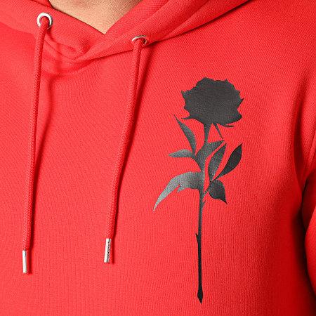Roses - Sweat Capuche Orient Mono Rouge