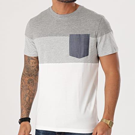Produkt - Tee Shirt Poche Contrast Pocket Gris Chiné Blanc