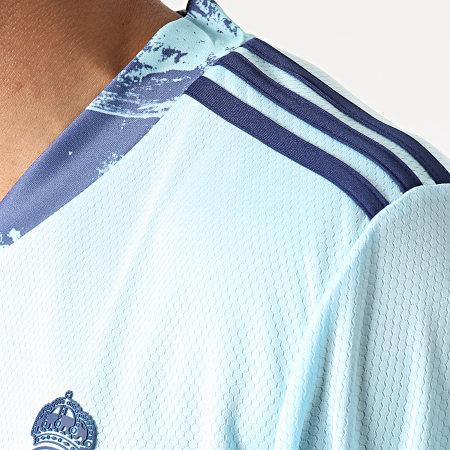 adidas - Tee Shirt De Sport A Bandes Real Madrid FM4738 Bleu Clair