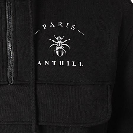 Anthill - Sweat Outdoor Col Zippé Back Logo Noir