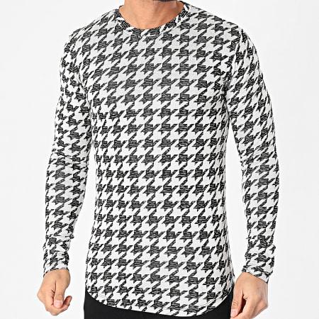 Frilivin - Tee Shirt Manches Longues Oversize 5557 Gris Noir