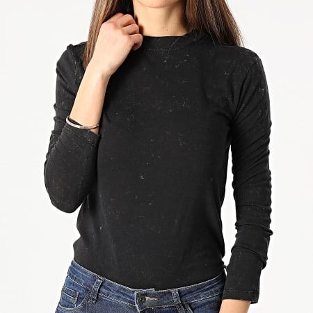 Only - Tee Shirt Femme Manches Longues Lucilla Noir