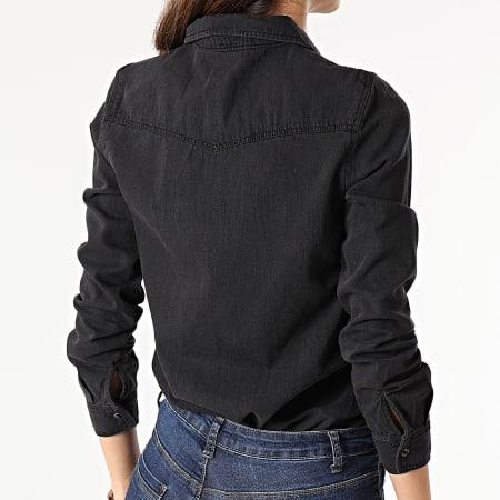 Vero Moda - Chemise En Jean Femme Maria Noir