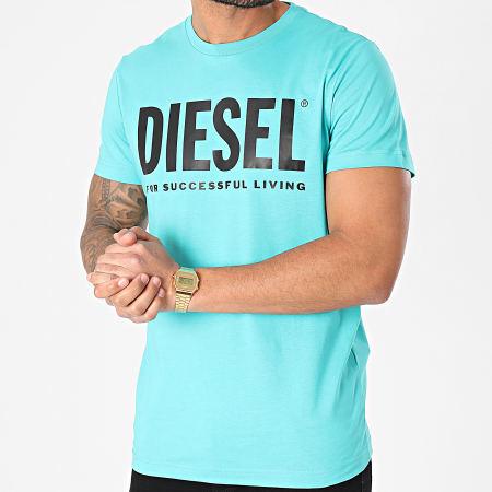 Diesel - Tee Shirt Diego 0AAXJ Bleu Turquoise