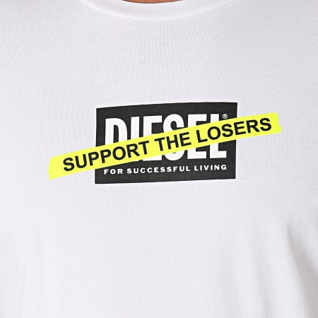 Diesel - Tee Shirt Diegos A01769-0HAYU Blanc