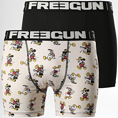 Freegun - Lot De 2 Boxers Disney Noir Beige