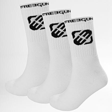 Freegun - Lot De 3 Paires De Chaussettes H40063 Blanc