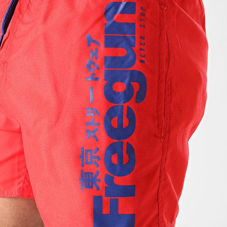 Freegun - Short De Bain SW-FG-G-1-FCE Rouge