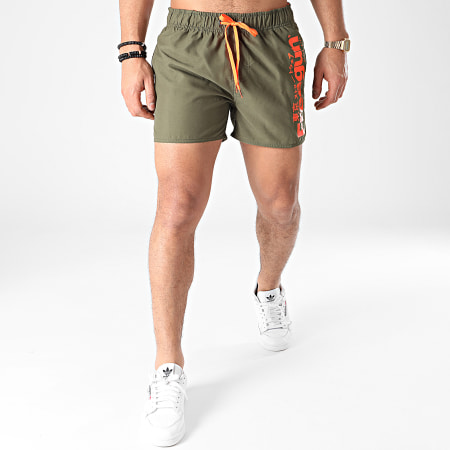 Freegun - Short De Bain SW-FG-G-1-FCE Vert Kaki Orange