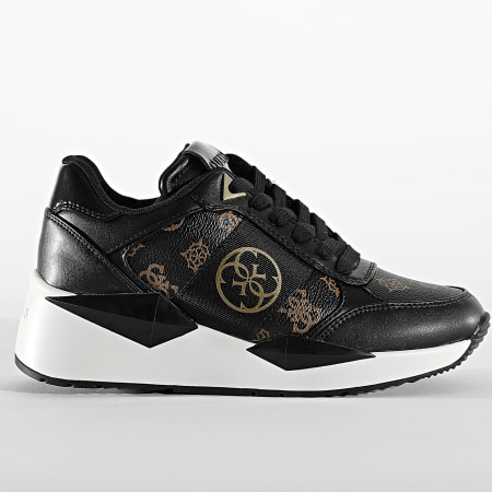 Guess - Baskets Femme FL5TESFAL12 Brown Black