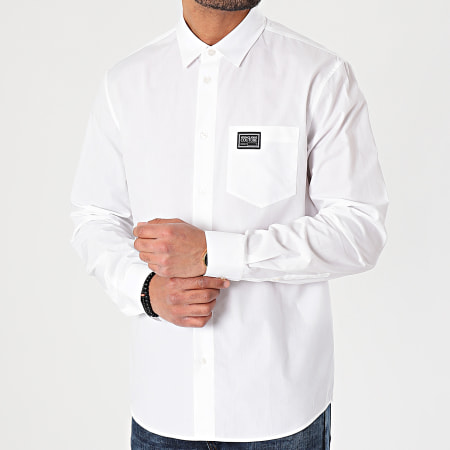 Versace Jeans Couture - Chemise Manches Longues Label Piece B1GWA601-30422 Blanc