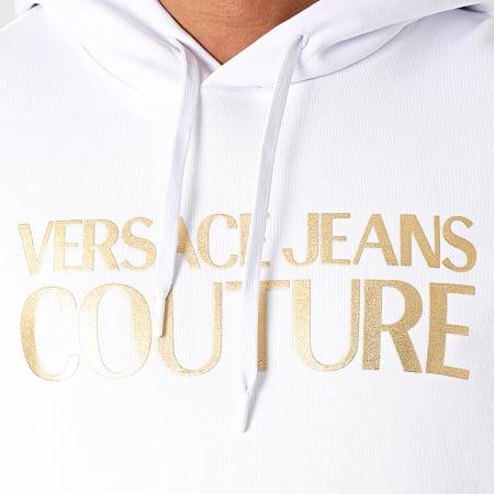 Versace Jeans Couture - Sweat Capuche Logo Foil B7GWA7TP-30318 Blanc Doré