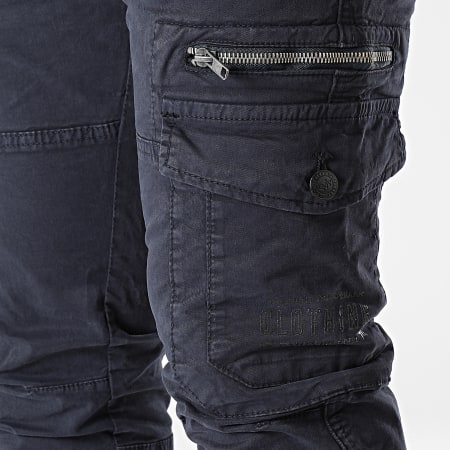 Deeluxe - Pantalon Cargo Slim Danakil Bleu Marine