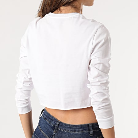 Vans - Tee Shirt Crop Femme Manches Longues Junior V A4OUQ Blanc