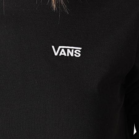 Vans - Tee Shirt Crop Femme Manches Longues Junior V A4OUQ Noir