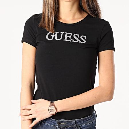 Guess - Tee Shirt Slim Femme W1RI9G-J1300 Noir