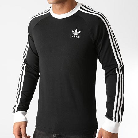 adidas - Tee Shirt Manches Longues A Bandes 3 Stripes GN3478 Noir
