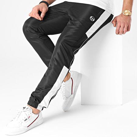 Sergio Tacchini - Pantalon Jogging A Bandes Abita 39145 Noir Blanc
