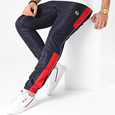 Sergio Tacchini - Pantalon Jogging A Bandes Abita 39145 Bleu Marine Rouge