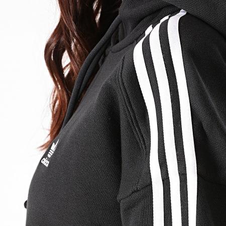adidas - Sweat Capuche Femme A Bandes Short GN2890 Noir