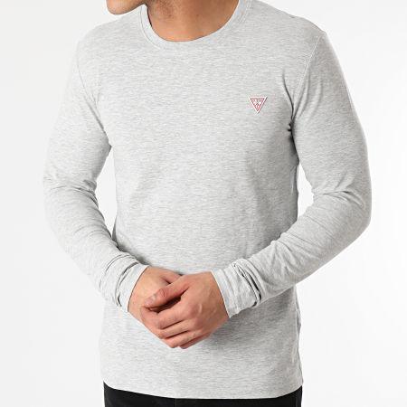 Guess - Tee Shirt Manches Longues M1RI28-11311 Gris Chiné