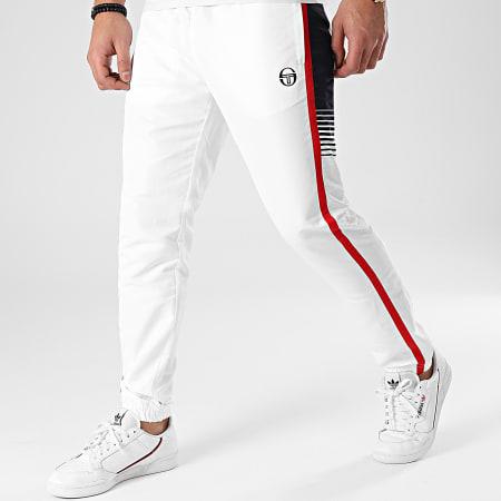 Sergio Tacchini - Pantalon Jogging A Bandes Alabama 39020 Blanc Bleu Marine