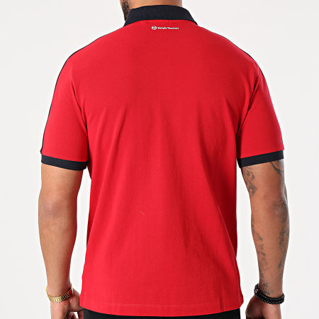 Sergio Tacchini - Polo Manches Courtes A Bandes Apricot 39223 Rouge