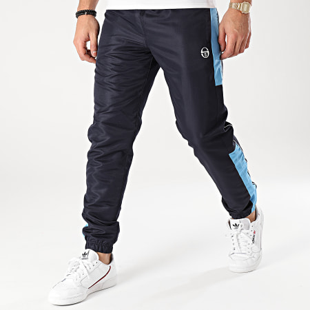 Sergio Tacchini - Pantalon Jogging A Bandes Abita 39145 Bleu Marine Bleu Clair