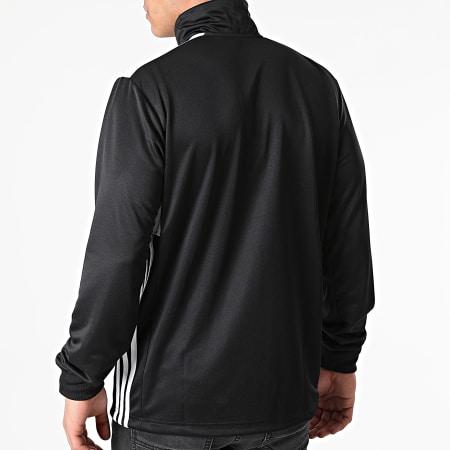 adidas - Sweat Col Zippé A Bandes Regi 18 CZ8647 Noir