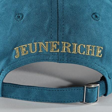Jeune Riche - Casquette Suede Bleu Doré