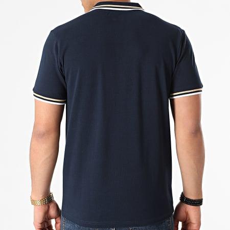 Kappa - Polo Manches Courtes Logo Esmo 3112GRW Bleu Marine