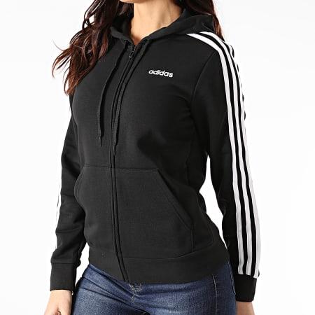 adidas - Sweat Zippé Capuche Femme A Bandes Essential DP2419 Noir