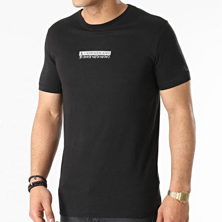 Calvin Klein Jeans - Tee Shirt Mirror Logo 7063 Noir