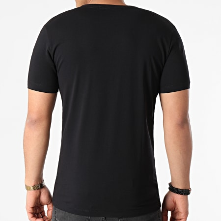 Calvin Klein Jeans - Tee Shirt Col V Micro CK 8068 Noir