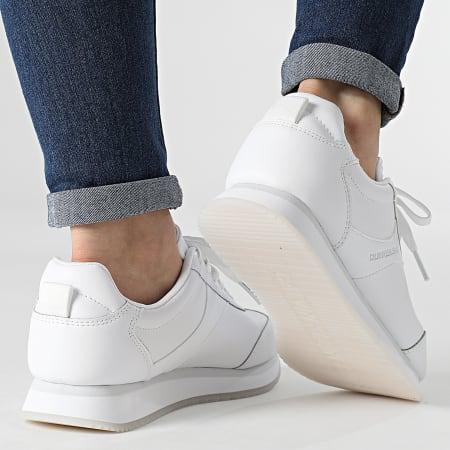 Calvin Klein - Baskets Femme Runner Sneaker Lace Up 0069 White